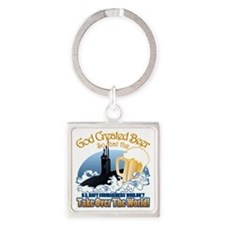 God Created Beer (Submariner) Square Keychain