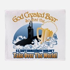 God Created Beer (Submariner) Throw Blanket