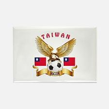 Taiwan Football Design Rectangle Magnet