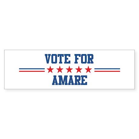 Vote for AMARE Bumper Sticker