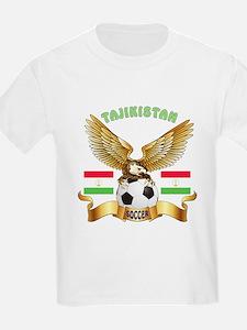 Tajikistan Football Design T-Shirt