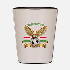 Tajikistan Football Design Shot Glass
