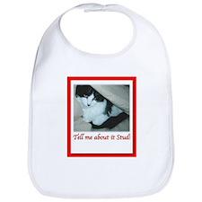 Valentine's Day Black and White Cat Bib