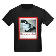 Valentine's Day Black and White Cat T