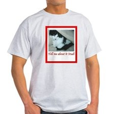 Valentine's Day Black and White Cat T-Shirt