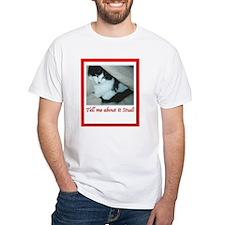 Valentine's Day Black and White Cat Shirt