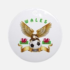 Wales Football Design Ornament (Round)