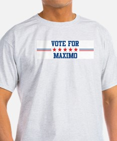 Vote for MAXIMO Ash Grey T-Shirt