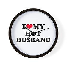 I love my hot husband Wall Clock