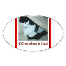 Valentines Day Black and White Cat Decal