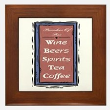 Drink List Framed Tile