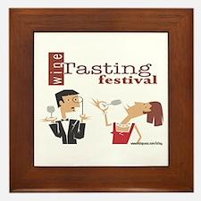 Wine Tasting Festival Framed Tile
