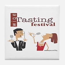 Wine Tasting Festival Tile Coaster