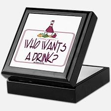 Who Wants A Drink Keepsake Box