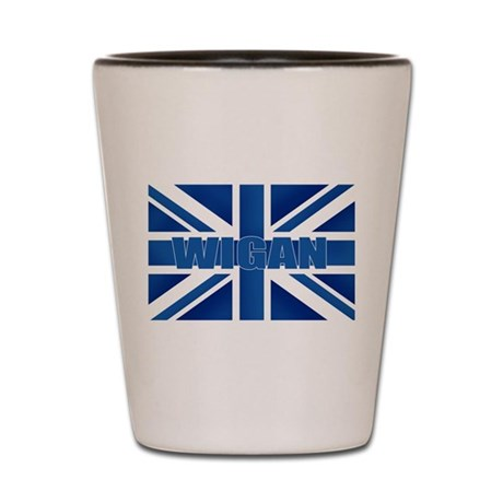 Wigan England Shot Glass
