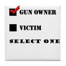 Gun Owner? Tile Coaster