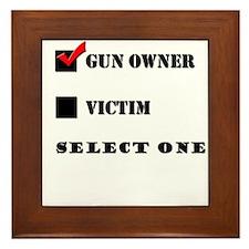 Gun Owner? Framed Tile