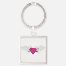 My Sweet Angel Laila Square Keychain