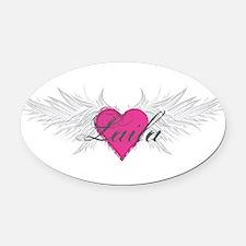 My Sweet Angel Laila Oval Car Magnet