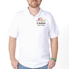 Personalized I Adore Birds Golf Shirt