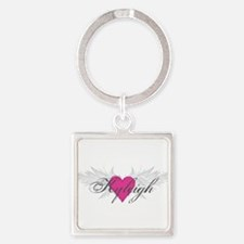 My Sweet Angel Kyleigh Square Keychain