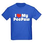 I Love My PeePaw Kids Dark T-Shirt