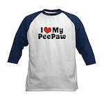 I Love My PeePaw Kids Baseball Jersey