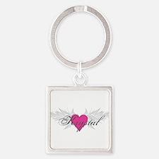 My Sweet Angel Krystal Square Keychain