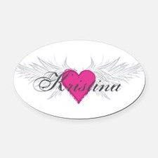 My Sweet Angel Kristina Oval Car Magnet