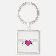 My Sweet Angel Kristen Square Keychain
