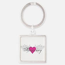 My Sweet Angel Kourtney Square Keychain