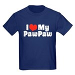 I Love My PawPaw Kids Dark T-Shirt