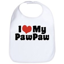 I Love My PawPaw Bib