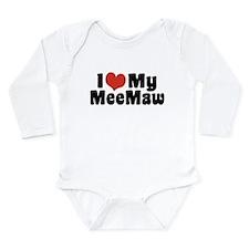 I Love My MeeMaw Long Sleeve Infant Bodysuit