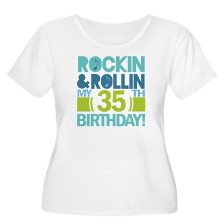 35th Birthday Rock and Roll Women's Plus Size Scoo
