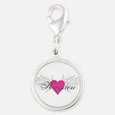 My Sweet Angel Kiersten Silver Round Charm