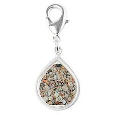 Beach Shells Silver Teardrop Charm