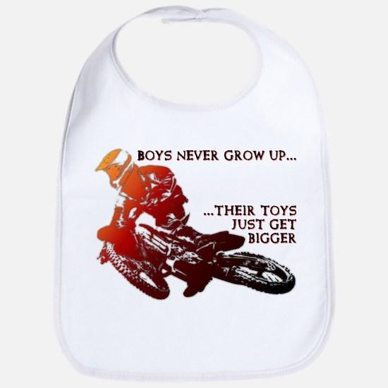 Bigger Toys Dirt Bike Motocross Funny T-Shirt Bib