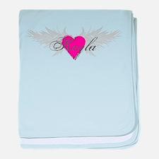 My Sweet Angel Keyla baby blanket