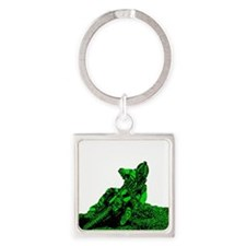 RV1bike green Square Keychain