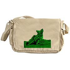 RV1bike green Messenger Bag