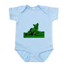 RV1bike green Infant Bodysuit