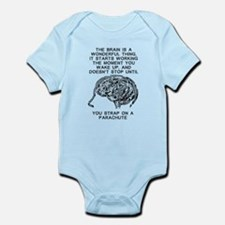 Skydiving Brain Stops Working Funny T-Shirt Infant