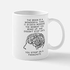 Skydiving Brain Stops Working Funny T-Shirt Mug