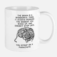 Skydiving Brain Stops Working Funny T-Shirt Small Small Mug