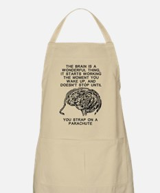 Skydiving Brain Stops Working Funny T-Shirt Apron