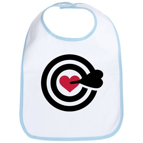 Red heart arrow target Bib