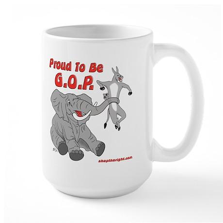 Proud to be GOP Large Mug