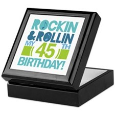 45th Birthday Rock and Roll Keepsake Box