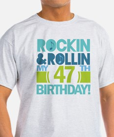 47th Birthday Rock and Roll T-Shirt